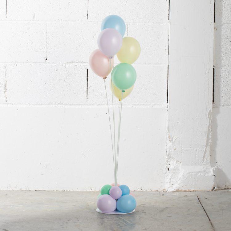 Structure Bouquet de ballons 6 tiges Pastel