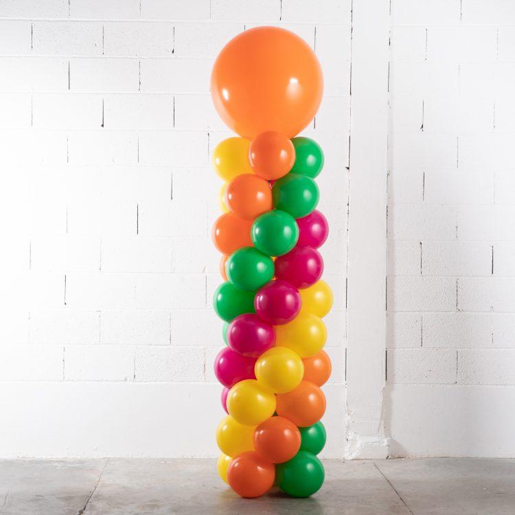 Structure colonne de ballons multicolore