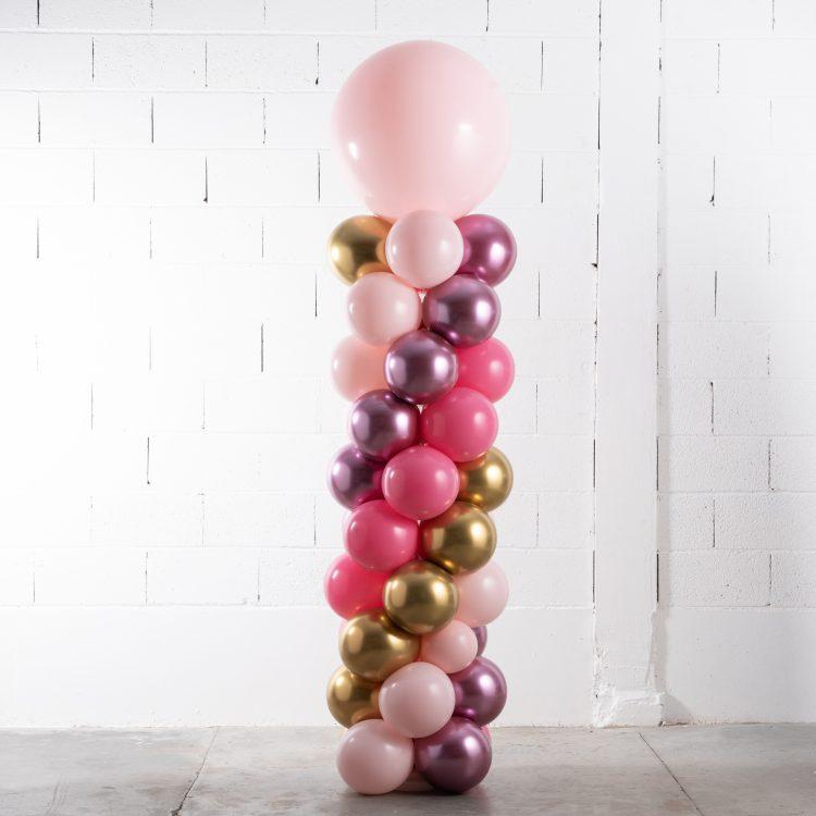 Structure de ballons Rose et Or