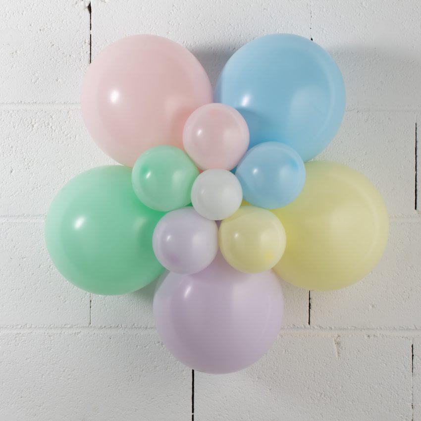 Fleur en ballons Pastel