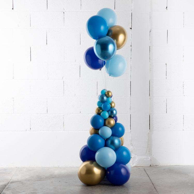 Structure Grand Bouquet Tiges Bleu