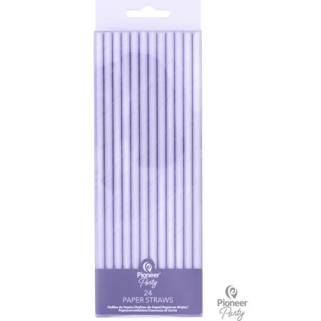 Pailles en papier Irisées (x24)