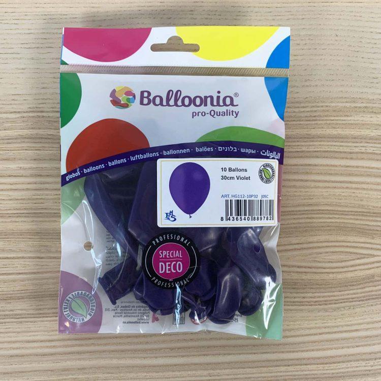 pochette ballons 30cm violet
