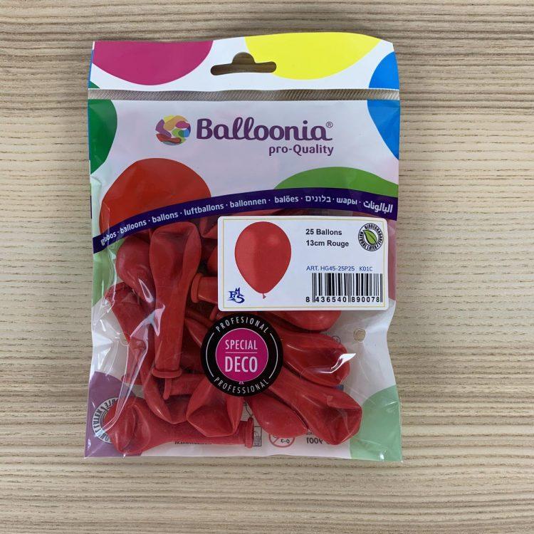 Pochette de 25 petits ballons Rouge sachet