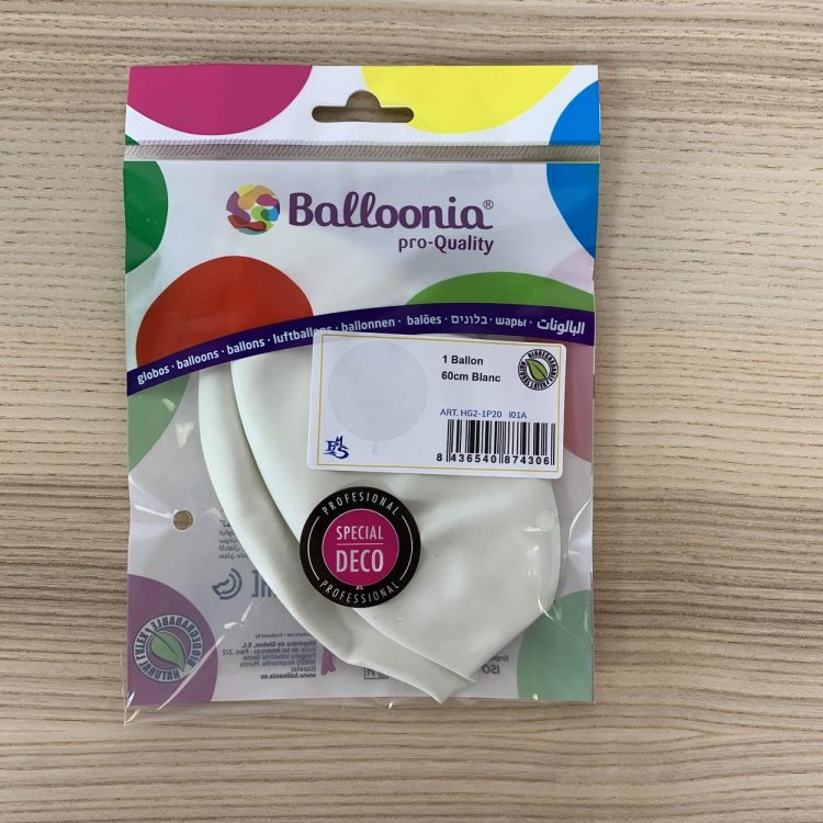 Pochette Ballon 60cm Blanc
