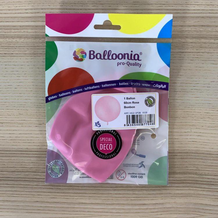Pochette Ballon 60cm Rose Bonbon