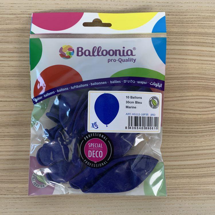 Pochette Ballons 30cm Bleu Marine