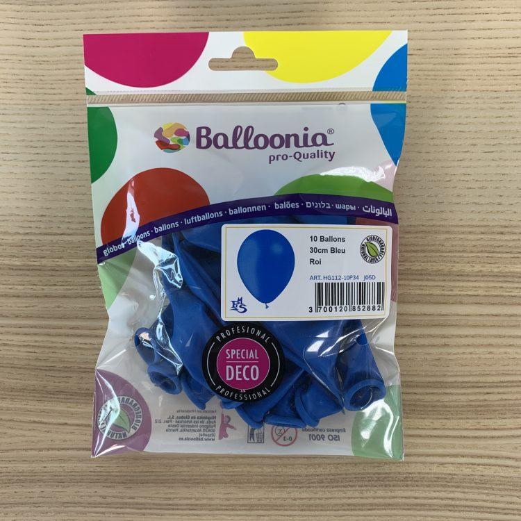 Pochette Ballons 30cm Bleu Roi