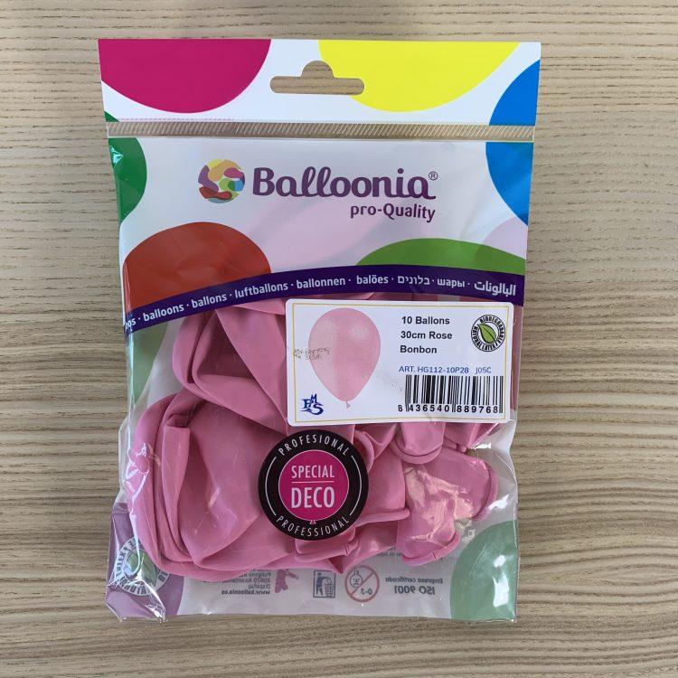 Pochette Ballons 30cm Rose Bonbon