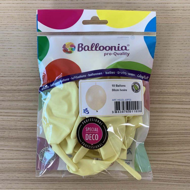 pochette 10 ballons construction ivoire