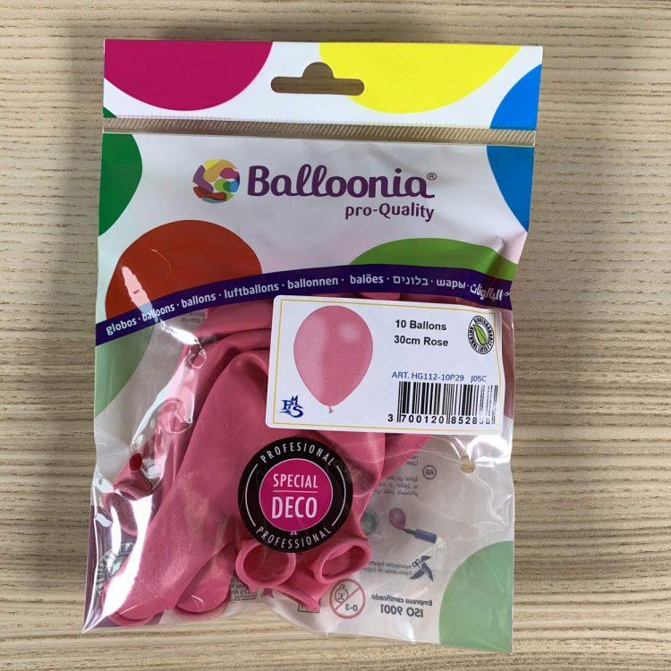 pochette ballons rose 30cm