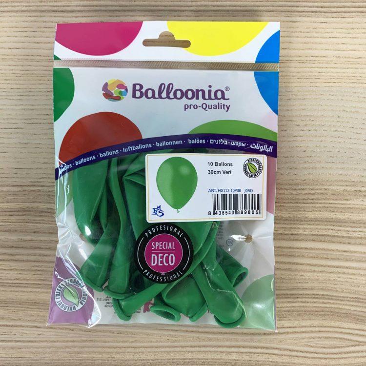 pochette ballons 30cm vert