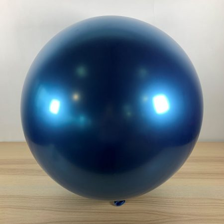Ballon 60cm Bleu Brillant Gonflé