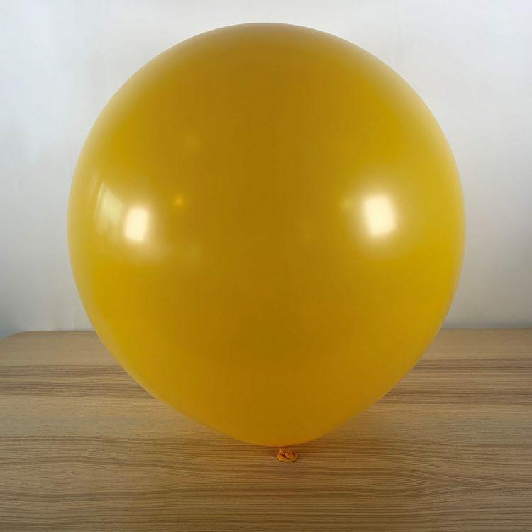 Ballon 60cm Jaune Or Gonflé