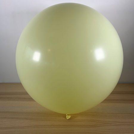 Ballon 60cm Jaune Pastel Gonflé