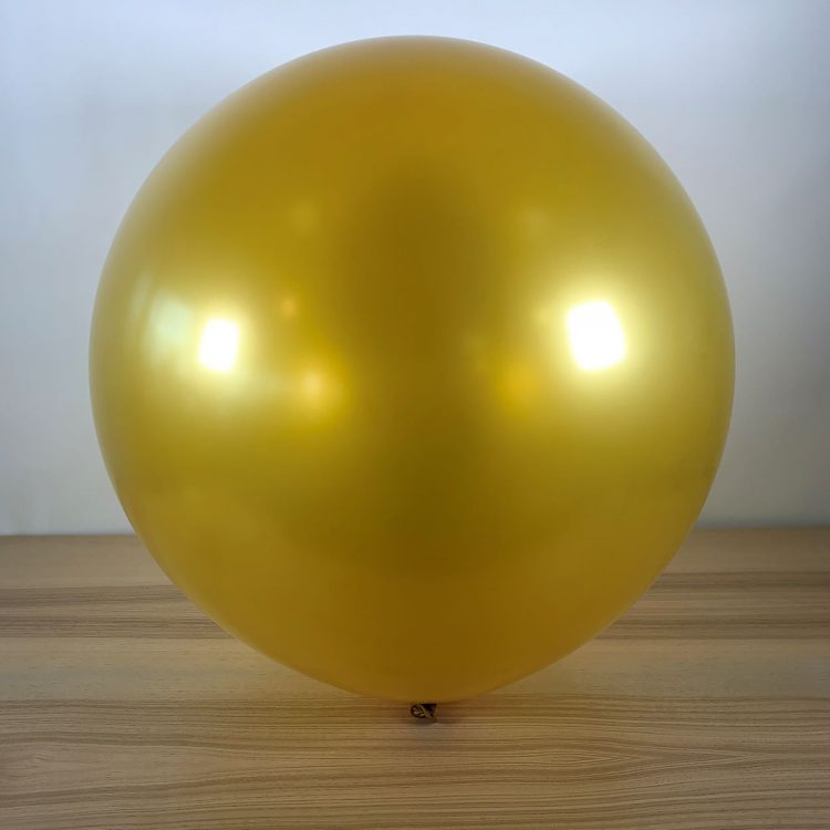 Ballon 60cm Métal Or Gonflé
