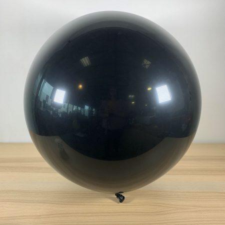 Ballon 60cm Noir Gonflé