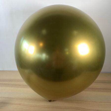 Ballon 60cm Or Brillant Gonflé