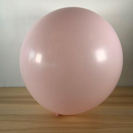 Ballon 60cm Pastel Rose Bébé Gonflé