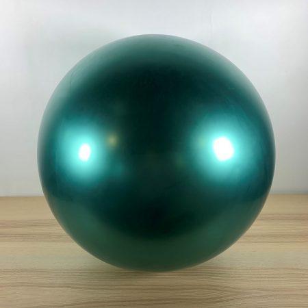 Ballon 60cm Vert Brillant Gonflé