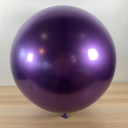 Ballon 60cm Violet Brillant Gonflé