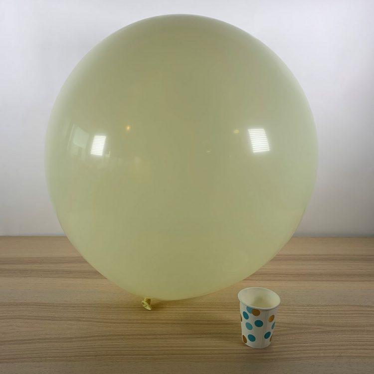 Ballon géant 60cm Ivoire