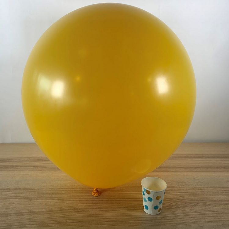 Ballon géant 60cm Jaune Or