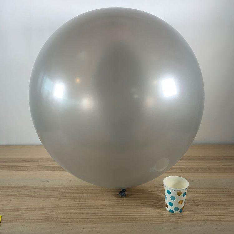 Ballon géant 60cm Métal Argent