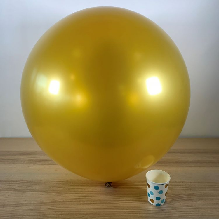 Ballon géant 60cm Métal Or