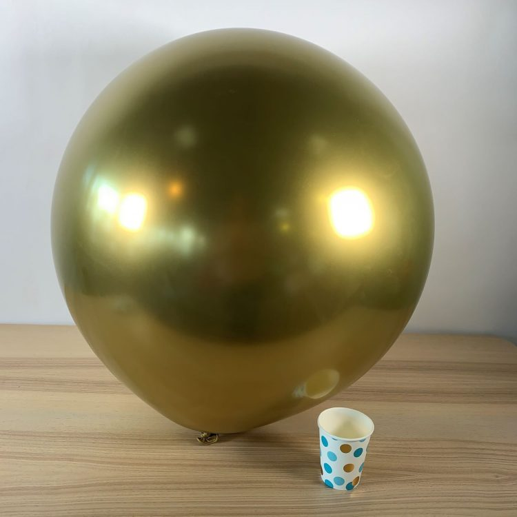 Ballon géant 60cm Or Brillant