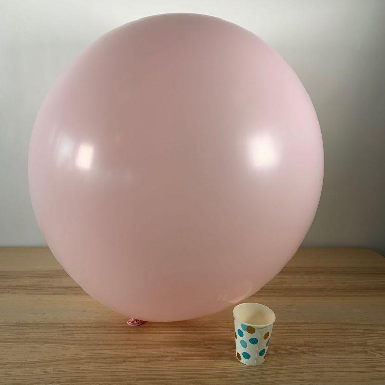 Ballon géant 60cm Pastel Rose Bébé