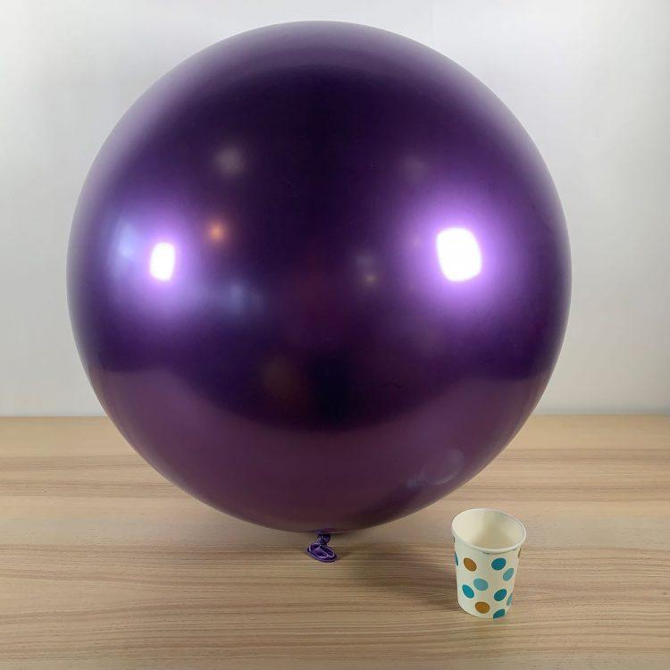 Ballon géant 60cm Violet Brillant
