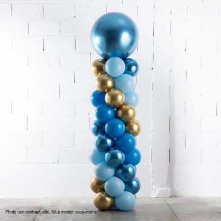 kit colonne ballons bleu et or