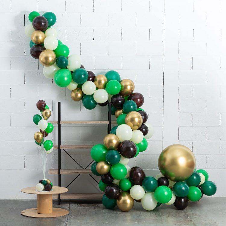 Guirlande Ballons Organique Kit à Faire Soi-même DIY nature gold