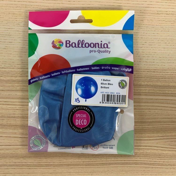 Pochette Ballon 60cm Bleu Brillant