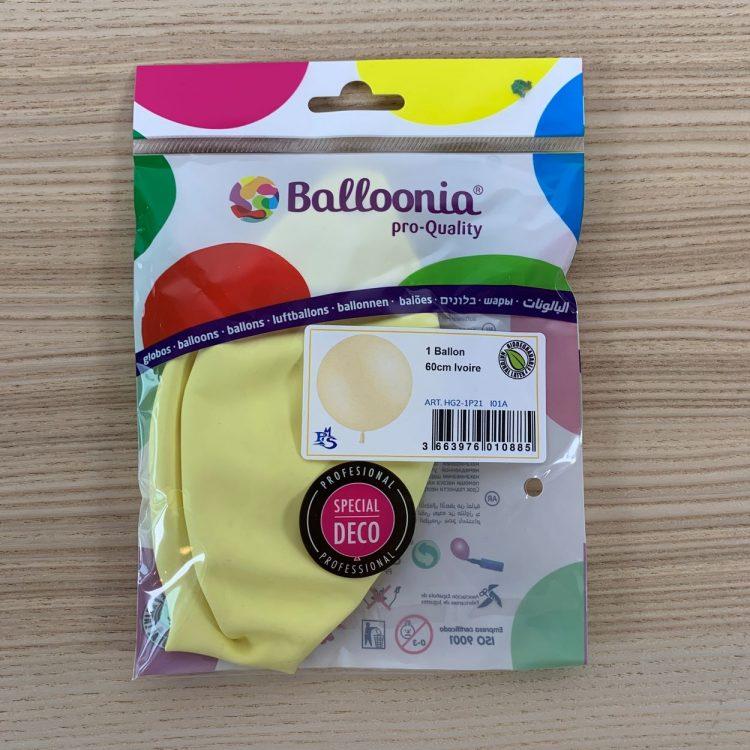 Pochette Ballon 60cm Ivoire