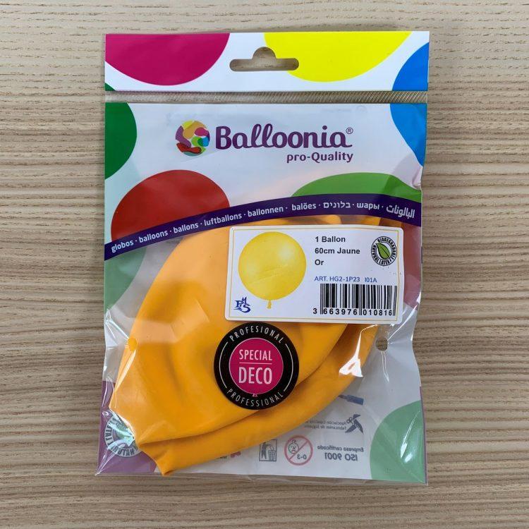 Pochette Ballon 60cm Jaune Or