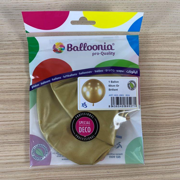 Pochette Ballon 60cm Or Brillant