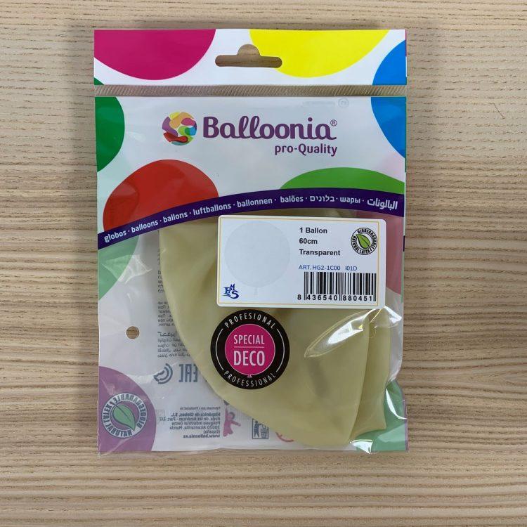 Pochette Ballon 60cm Transparent