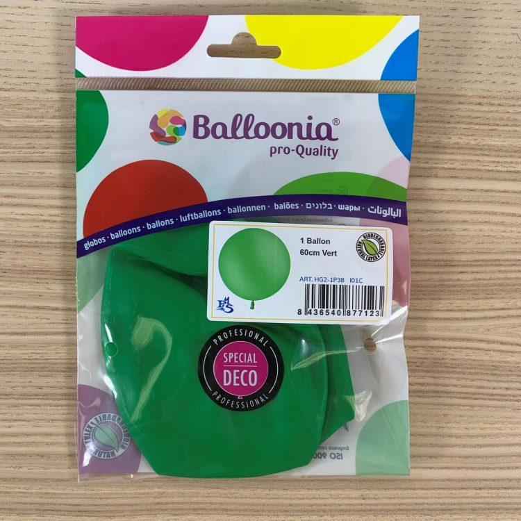 Pochette Ballon 60cm Vert