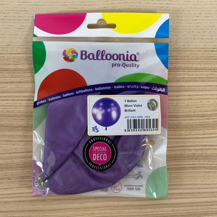 Pochette Ballon 60cm Violet Brillant