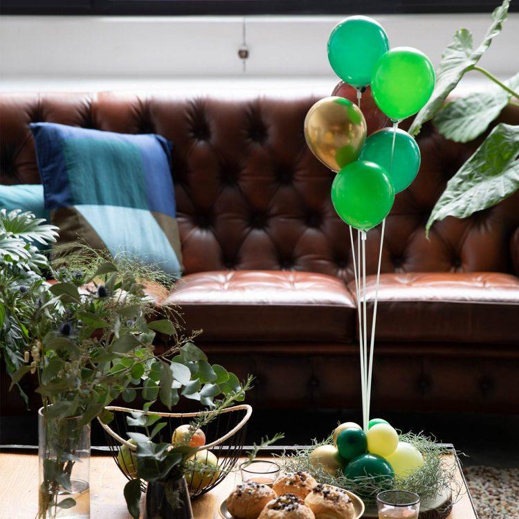 Bouquet de ballons livré gonflé à l'air