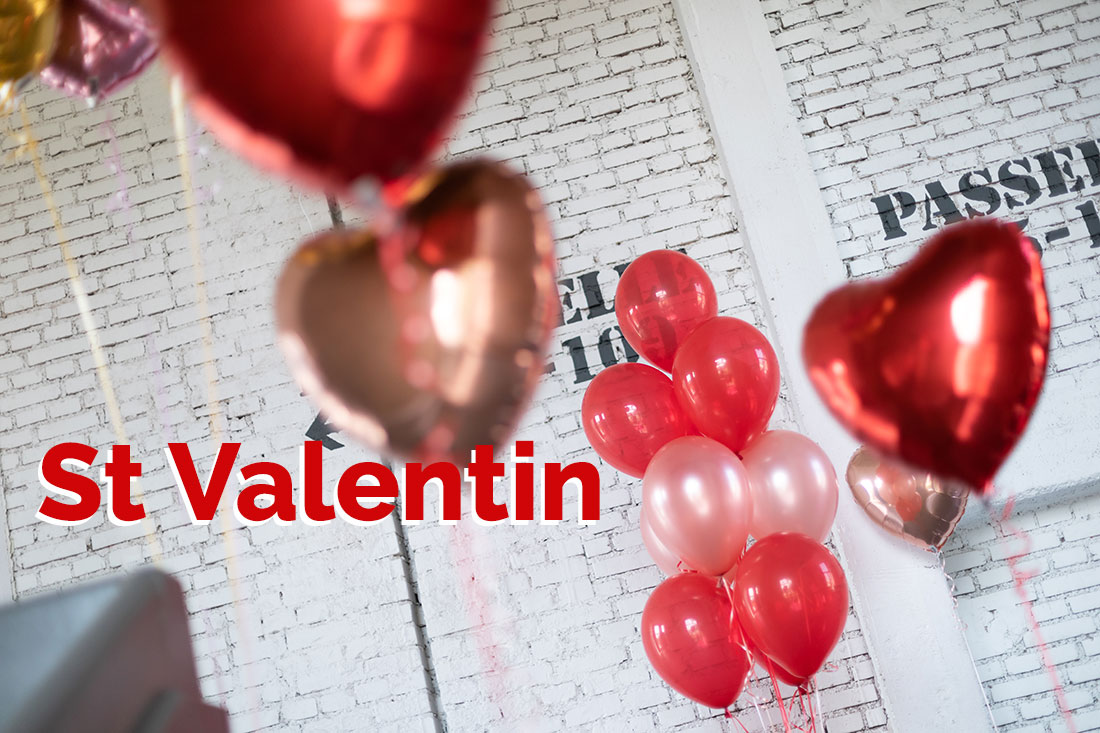Des ballons pour la St Valentin
